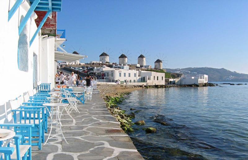 Chora en la isla de Mykonos