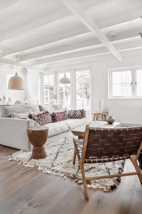 la madera y el blanco en las casas escandinavas