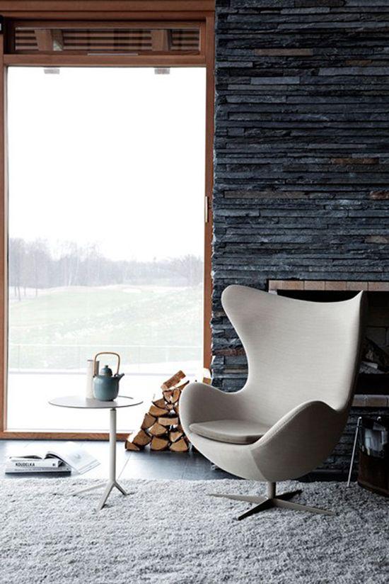 La silla Egg en la decoración de interiores