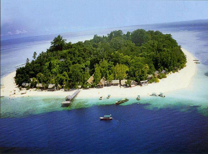 Isla de Sipadan en Borneo