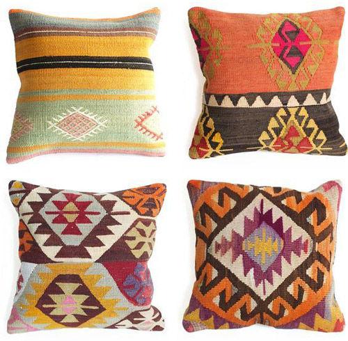 cojines de estilo kilim