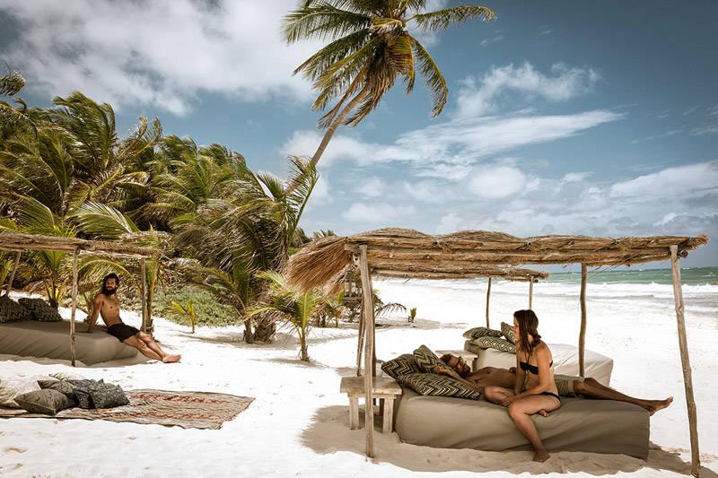 Relax en las playas de Tulúm