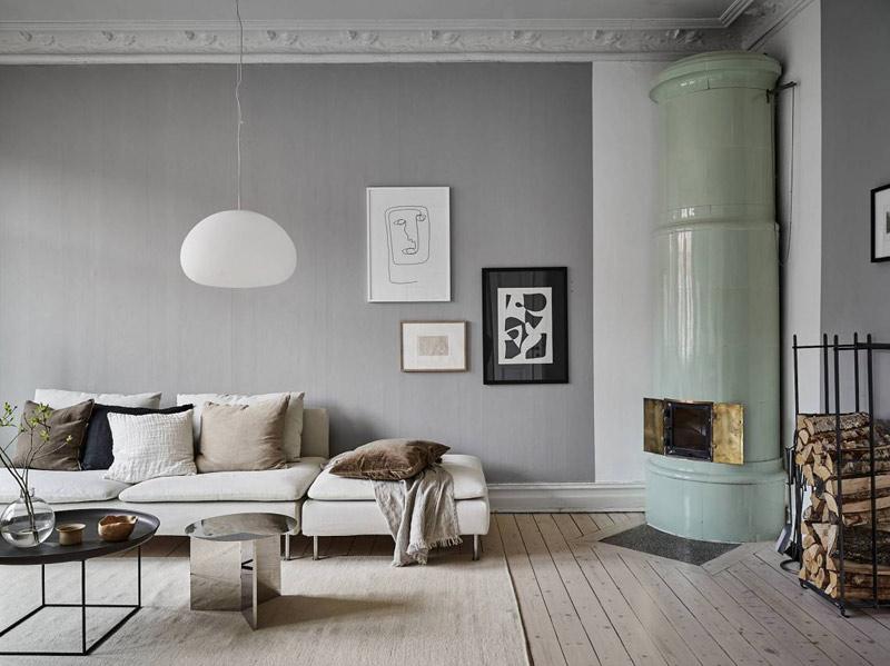 El color gris en los interiores escandinavos