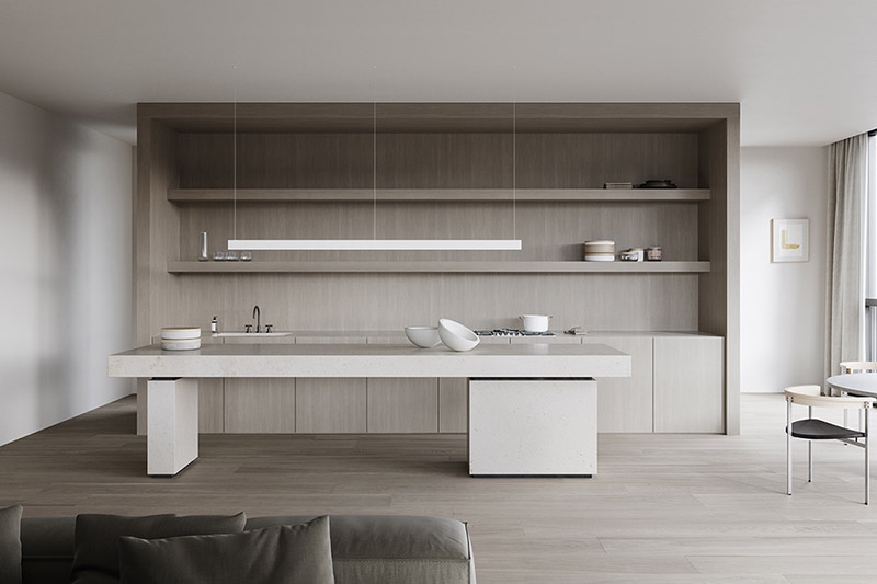 cocina de diseño minimalista