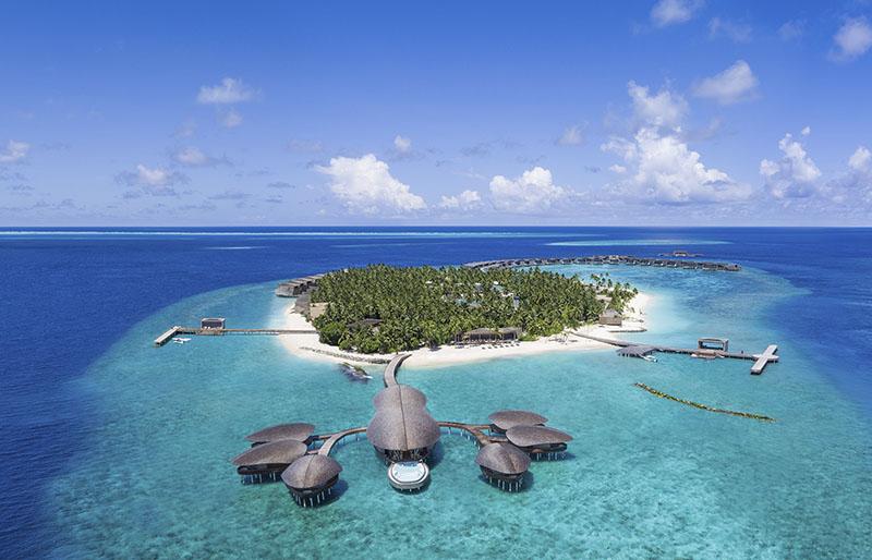 villas de lujo sobre el agua en Maldivas