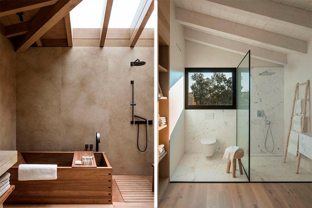 accesorios de baño de madera