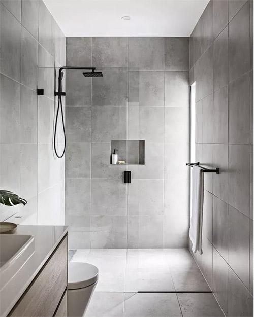 ducha de color gris claro