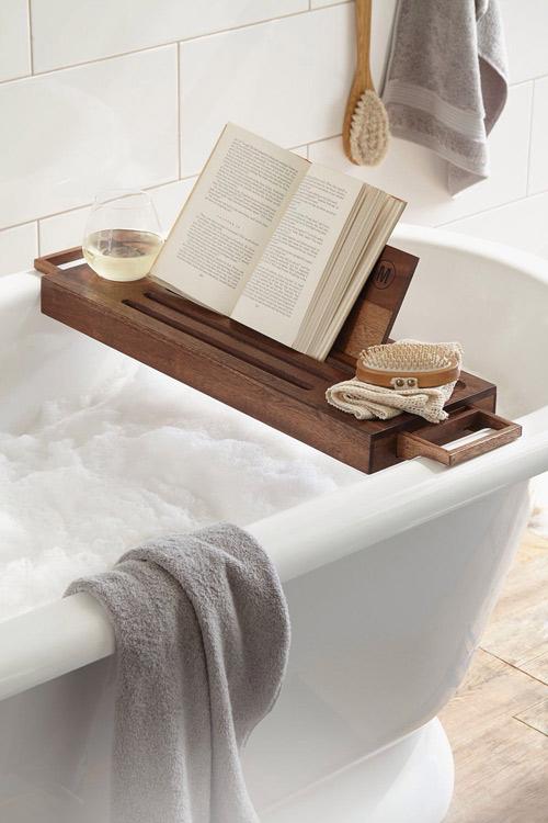 accesorios de madera para el cuarto de baño