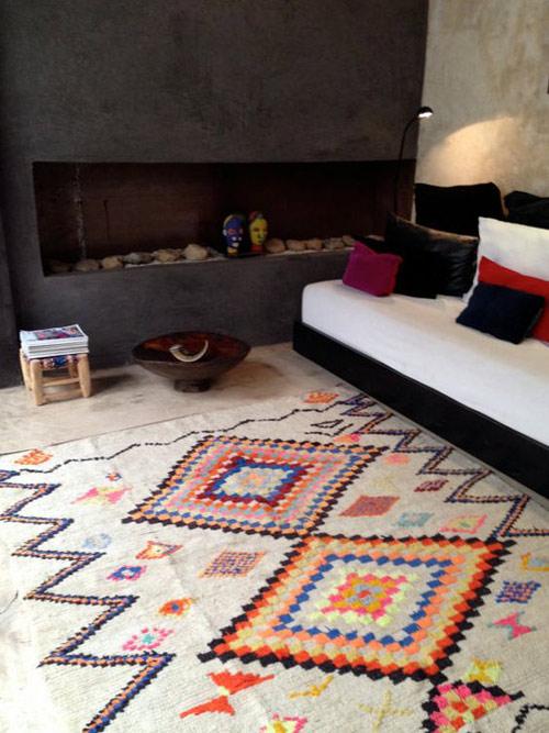 alfombra étnica de colores