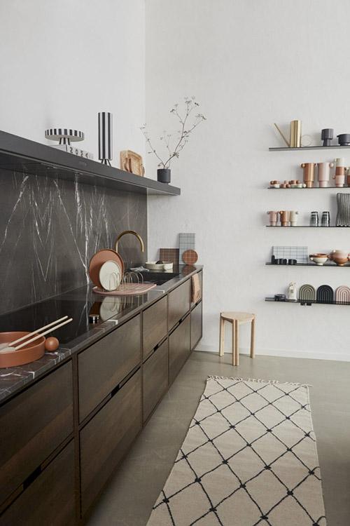 decoración de cocinas con alfombras