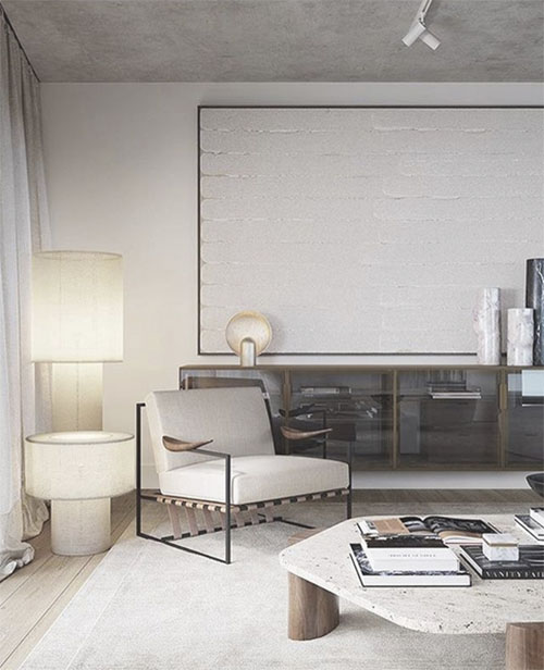 Alfombra de color blanco para decorar el salón