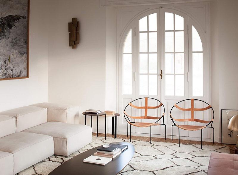 alfombras beni ouarain en la decoración de estilo minimalista