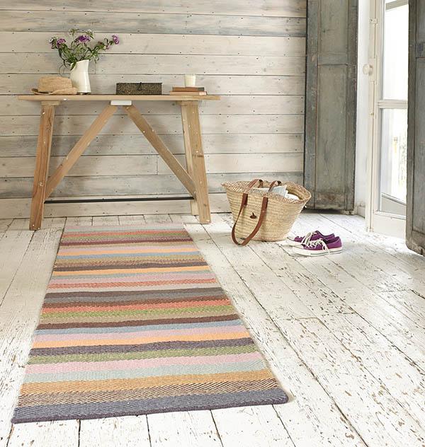 alfombra de pasillo de colores