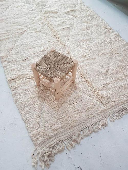 alfombra étnica de pelo largo