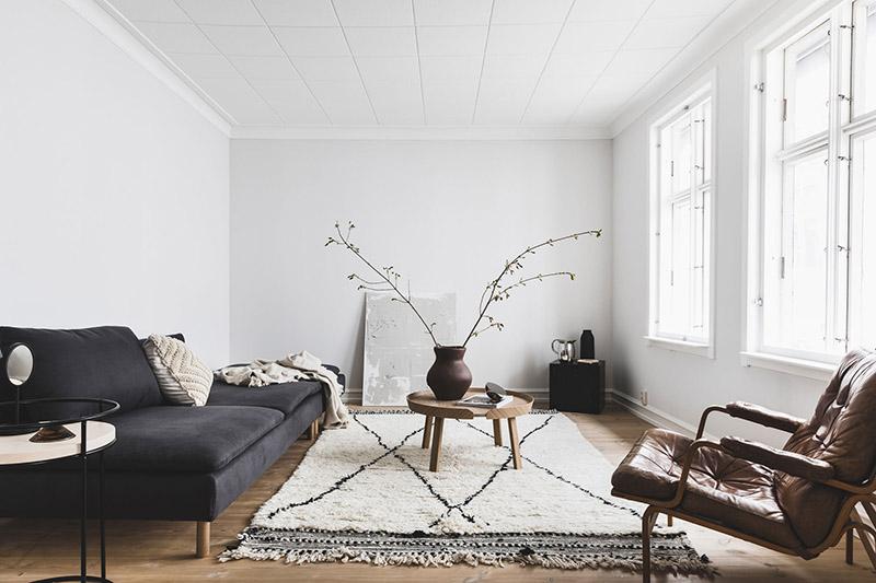 alfombra bereber beni ouarain para la decoración del salón