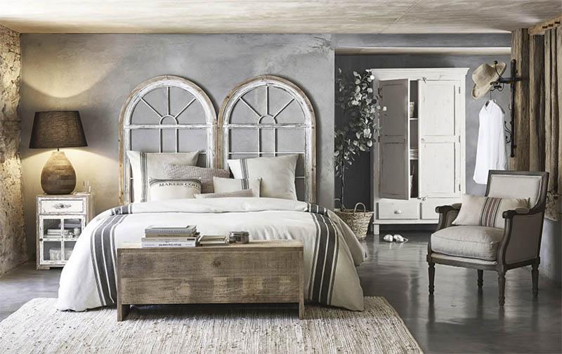 alfombras de color beige para la decoración del dormitorio