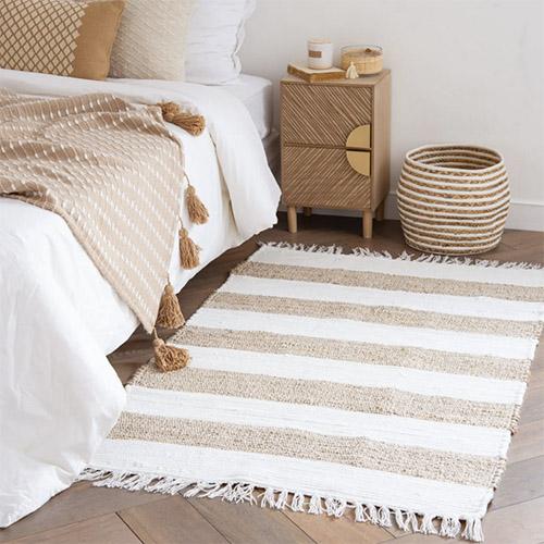 alfombras étnicas para la decoración del dormitorio