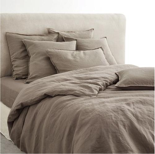 cojines, mantas de cama y fundas nórdicas de lino lavado