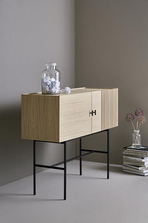 aparador de diseño nórdico de madera
