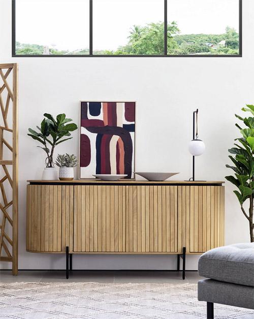 aparador de diseño escandinavo de madera