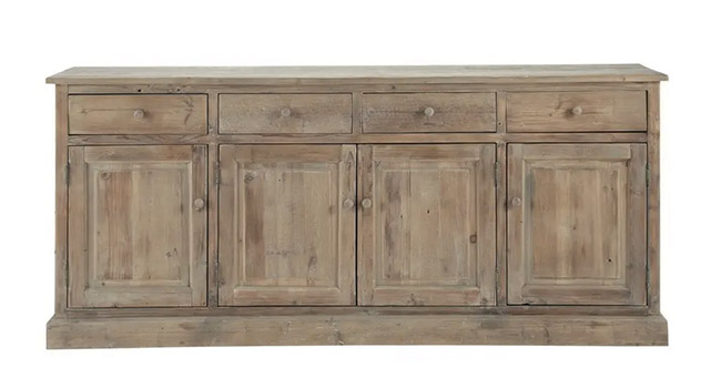 aparador de estilo rústico de madera de abeto