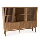 aparador de madera tipo librería