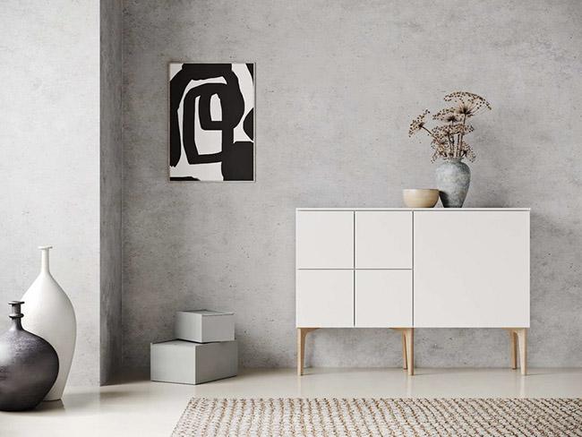aparador blanco de diseño escandinavo