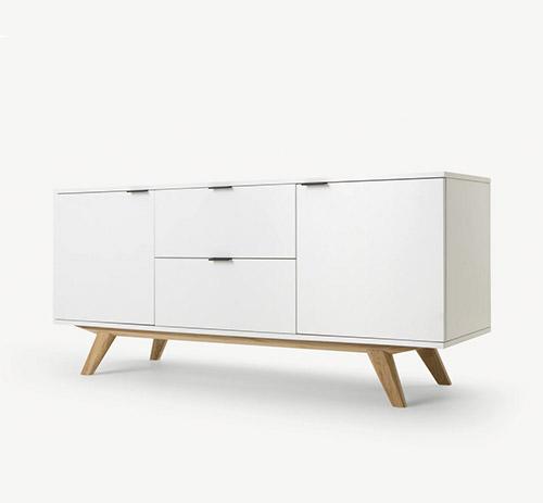 aparador de madera de roble de color blanco