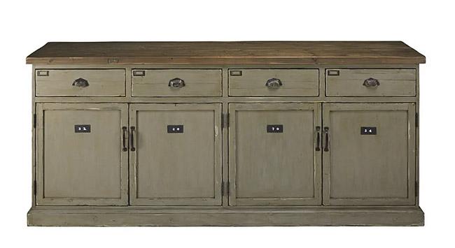 mueble cajonera con puertas y cajones de madera