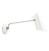 lámpara de pared de color blanco