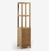 armario de baño de madera de teca