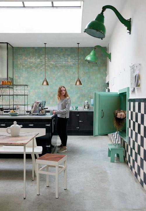 mosaico de baldosas zelliges en la cocina