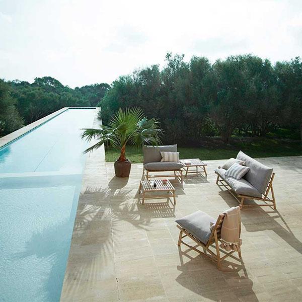 decoración de terrazas con fibras naturales
