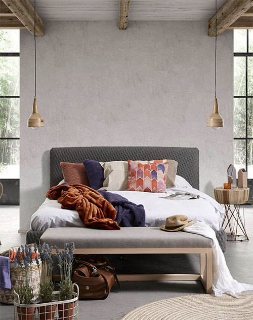 banco de pie de cama de diseño escandinavo