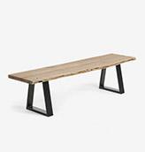 banco de madera rústico industrial