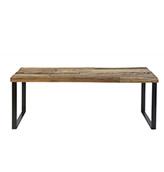 banco de madera estilo vintage industrial