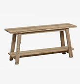 banco rústico de madera de teca