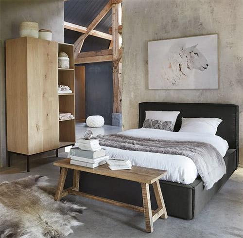 banco de pie de cama de madera