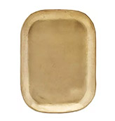 bandeja dorada para la mesa del comedor