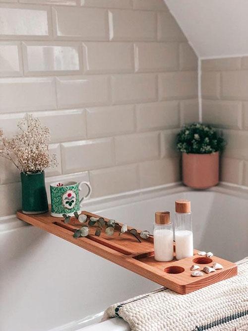 Tabla de ducha de madera maciza