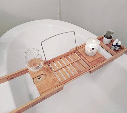 bandeja para bañera extensible