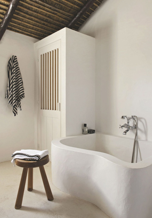 cuarto de baño de estilo mediterráneo