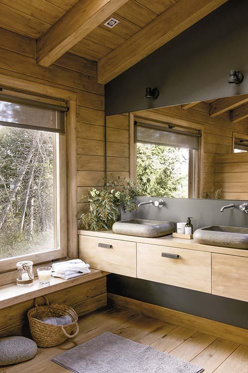 Baño de una casa de campo
