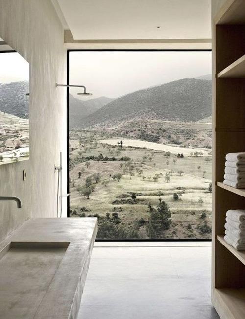 Un baño decorado con los principios del minimalismo