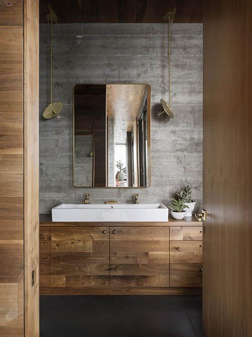 Baño rústico de diseño contemporaneo