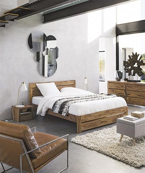 banqueta de pie de cama de diseño vintage