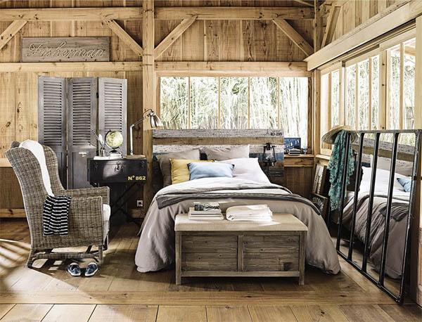 baúl colonial de madera