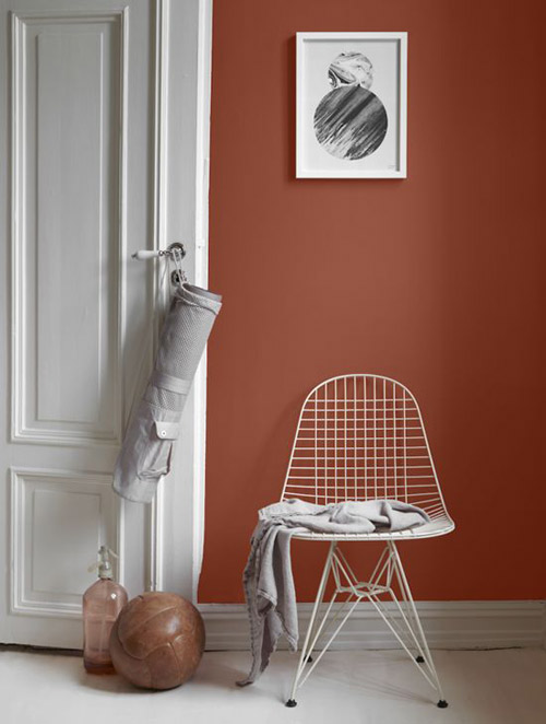 paredes pintadas de color terracota: nueva tendencia en la decoración