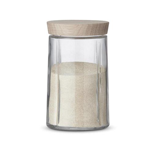 bote de vidrio con tapa de cocina