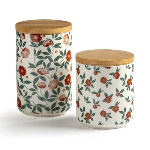 tarros de cocina de ceramica con tapa